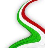 Italian flag. Stock Photo