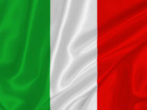 Italian flag. On the wind royalty free stock photo