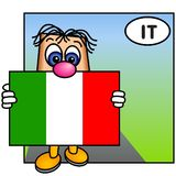 The Italian Flag Royalty Free Stock Images