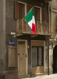 Italian flag. In the window stock image