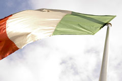 Italian flag. On light background Royalty Free Stock Photos