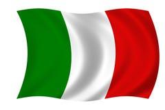 Italian flag. Waving flag of Italy - italian flag Royalty Free Illustration