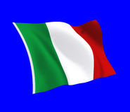 Italian Flag. The flag of italy Royalty Free Stock Photo