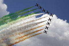 Italian flag in the air Stock Photography
