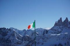 Italian Alps and Flag Stock Photos