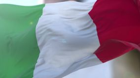 Italian flag stock video