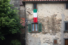 Italian flag Benabbio Royalty Free Stock Photo