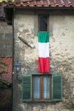 Italian flag Benabbio Stock Image