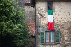 Italian flag Benabbio Stock Photography