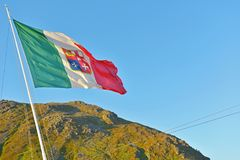 Italian Flag in the Wind stock photography