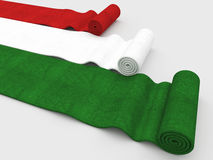 Italian flag carpet Stock Photos