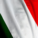 Italian Flag Closeup Royalty Free Stock Photography