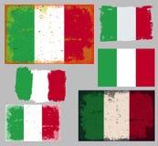 Italian flag collection vector Royalty Free Stock Photo