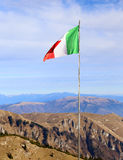 Italian flag with the colors red white and green svontola high a Stock Photography