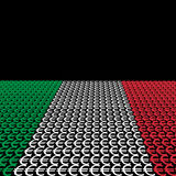 Italian flag euros Stock Photo