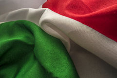 Italian flag fabric Stock Image
