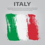 Italian flag. Flag of Italy, brush stroke background. Italian Republic Holiday Royalty Free Stock Image