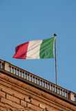 Italian flag in florence. On pitti palace ex medici residece in the heardt of town Royalty Free Stock Images