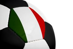Italian Flag - Football Stock Photography