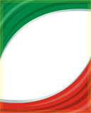 Italian flag frame wave Royalty Free Stock Image