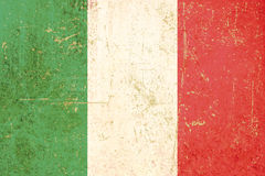 Italian flag grunge Stock Photography