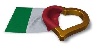 Italian flag and heart Stock Photography