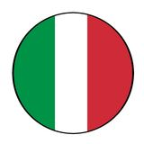 Italian flag icon button Stock Image