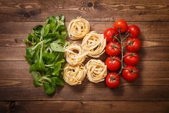 Italian flag of the ingredients food Royalty Free Stock Images