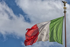 Italian flag of Italy green white and red Royalty Free Stock Photo