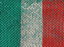 Italian Flag of Italy Stock Photo