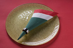 Italian flag made from paper napkin Royalty Free Stock Photography