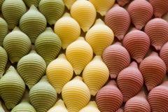 Italian flag. Made from pasta Stock Photo