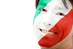 Italian Flag - Male Face Royalty Free Stock Photo