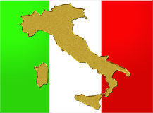 Italian flag and map Stock Photo