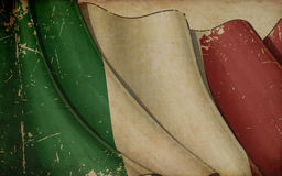 Italian Flag Old Paper Background Royalty Free Stock Images
