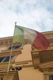 Italian flag in Palermo, Sicily Royalty Free Stock Photography