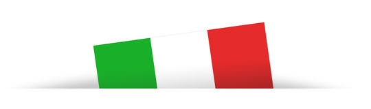 Italian flag partially hidden with shadow Royalty Free Stock Photography