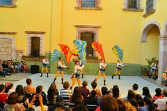 Italian flag performance at Festival Cultural Stock Photos