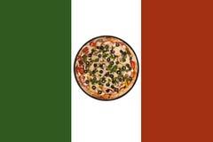 Italian flag pizza Stock Image