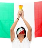 Italian flag portrait Stock Photo
