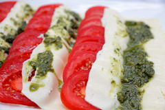 Italian flag salad Royalty Free Stock Photography