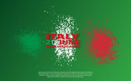 Italian flag. Italian translation of the inscription: Italy. Second of June. Italian Republic Holiday. Italian flag. Second of June. Italian Republic Holiday Royalty Free Stock Photography