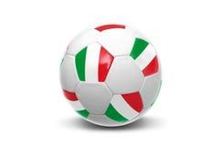 Italian flag soccer  ball Stock Images