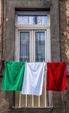 The Italian Flag Stock Photo