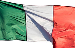 Italian flag in the sun on  white background Stock Photography