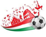 Italian flag and symbol set Royalty Free Stock Photo