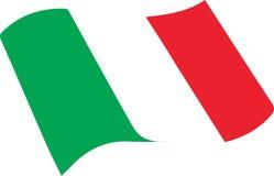 Italian Flag. Italian Tricolor Flag vectorial Green White Red stock illustration