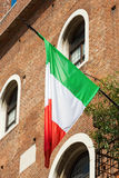 Italian Flag in a Verona Palace Stock Images