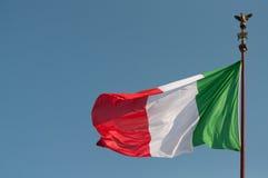 Italian flag at Vittoriano Royalty Free Stock Photography