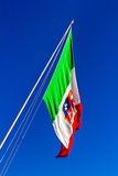 Italian flag waving Royalty Free Stock Photos